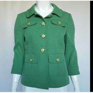 Nordstrom's Halogen Kelly green jacket w/ spandex